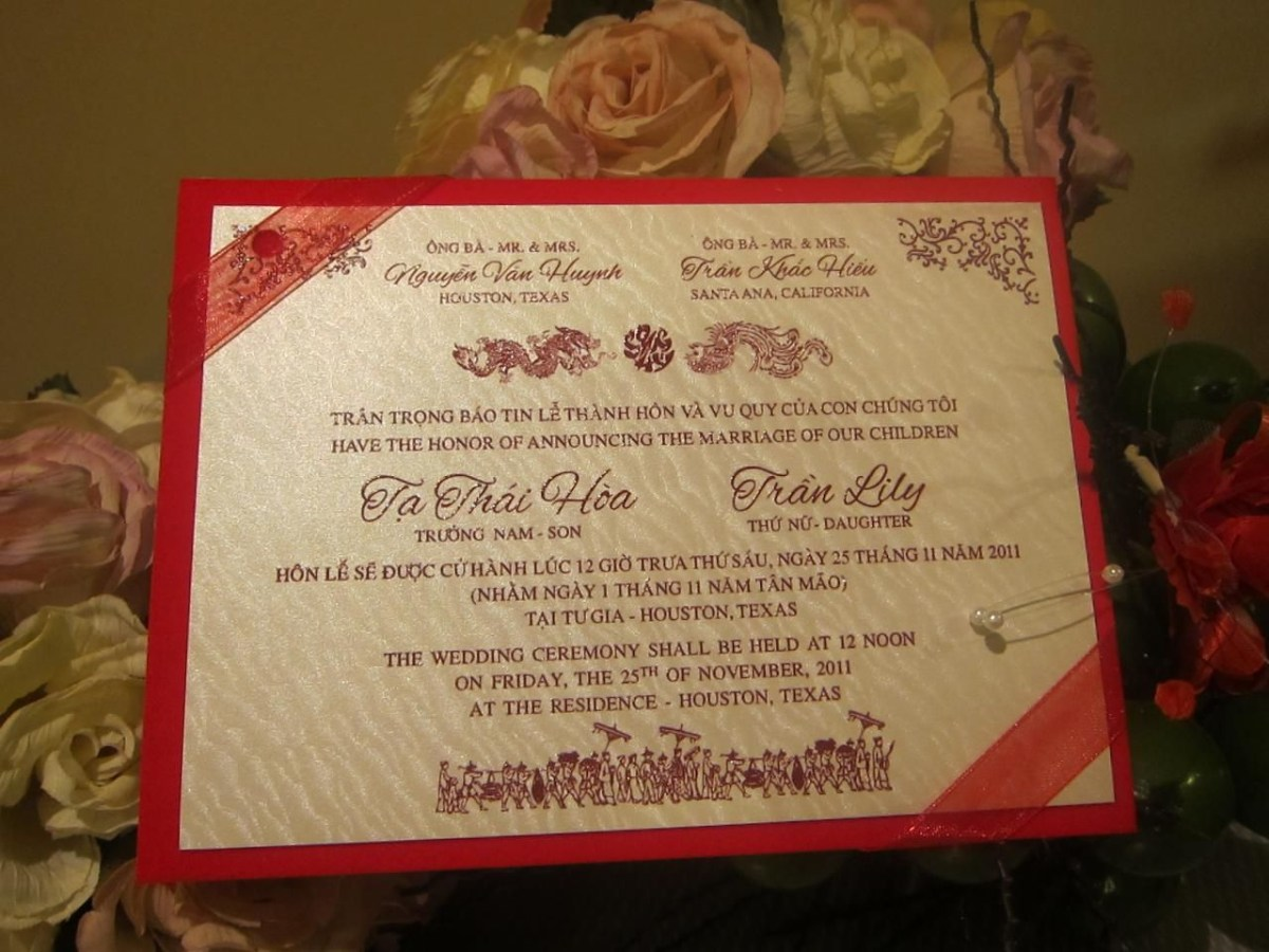 30+ Amazing Image of Vietnamese Wedding Invitations