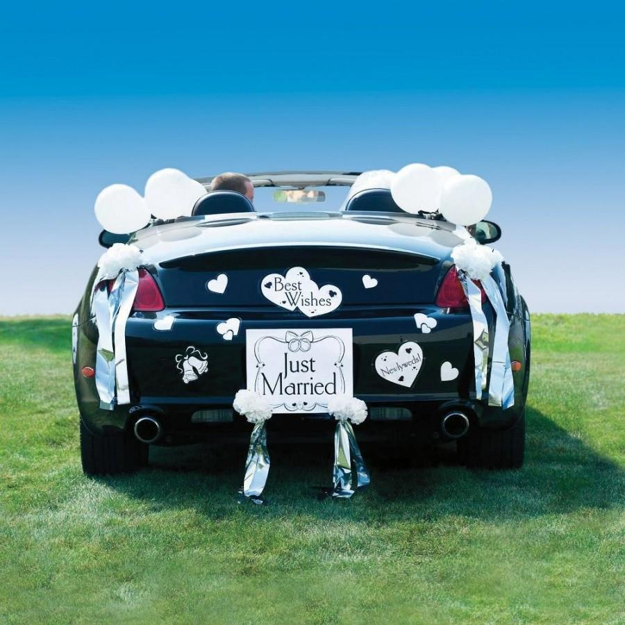 Wedding Car Decoration Kit Car Just Married Wedding Car Decoration Kit 2175483 Weddbook