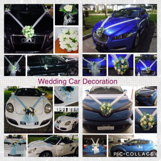 Wedding Car Decoration Kit Huwelijk Wedding Car Decoration Kit 3 Bows Ribbon Gold