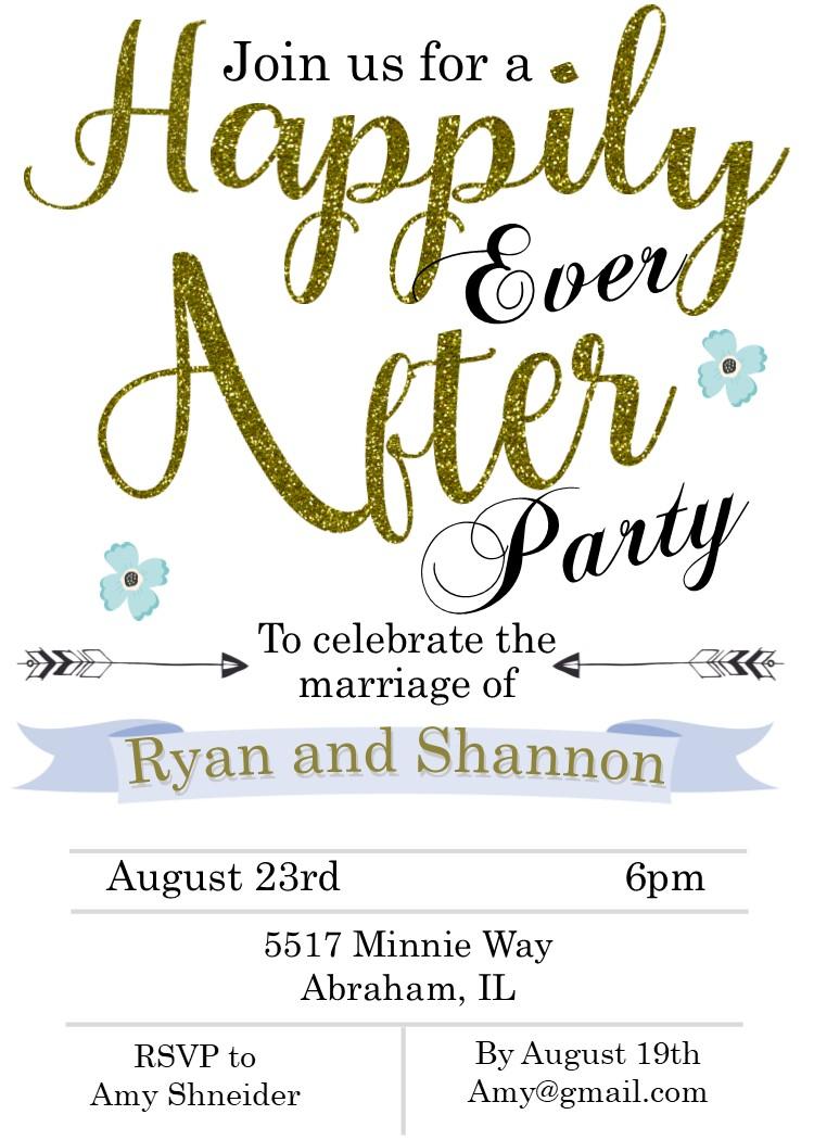 Wedding Celebration Invitations Elopement Party Invitations Reception Only Invitations