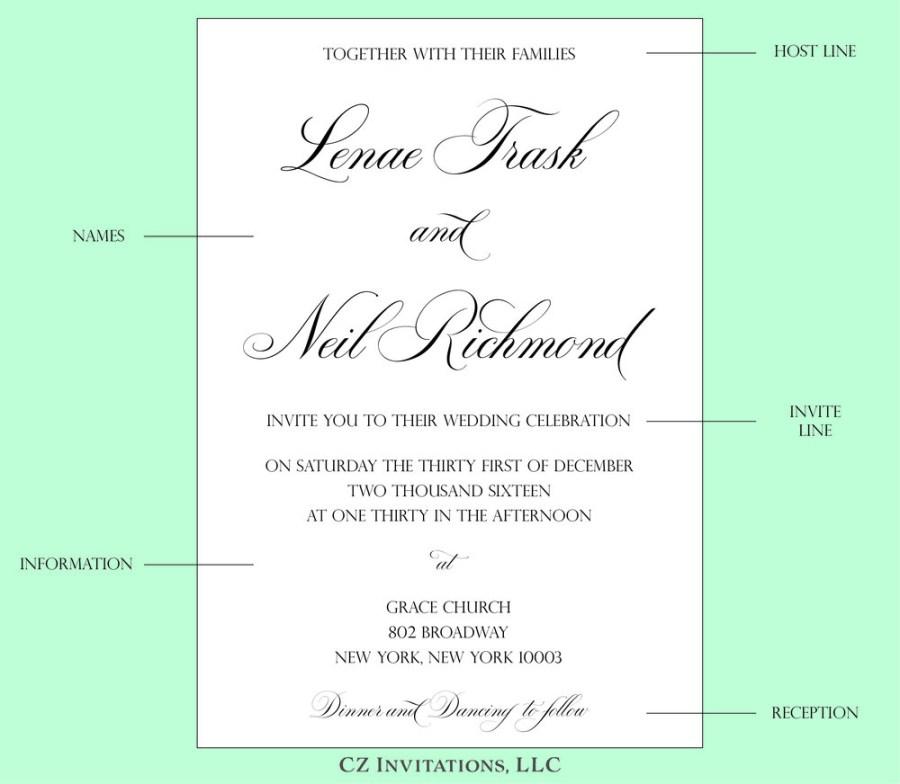 Wedding Celebration Invitations How To Wedding Invitation Wording Cz Invitations