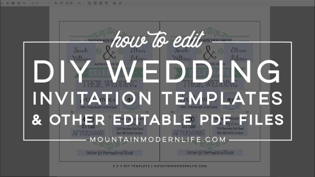 Wedding Invitation Editable Template How To Edit Diy Wedding Invitations And Editable Pdf Files From Our