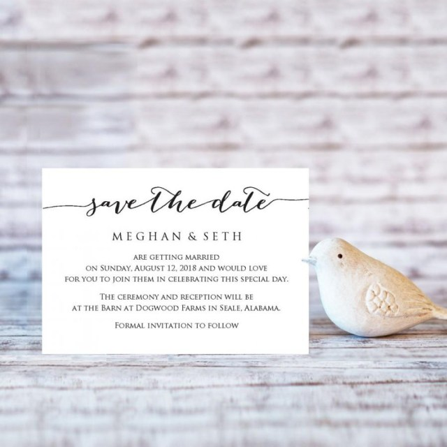 Wedding Invitation Editable Template Save The Date Wedding Template Editable Wedding Template Diy Bride