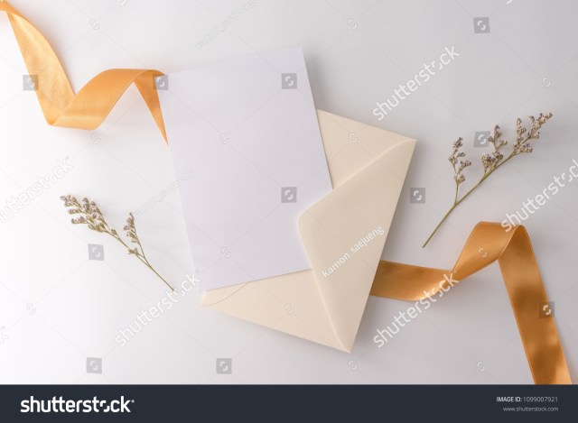 Wedding Invitation Envelopes Wedding Mock Concept Wedding Invitation Envelopes Stockfoto Jetzt