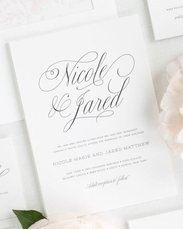 Wedding Invitation Examples Garden Script Wedding Invitations Wedding Invitations Shine