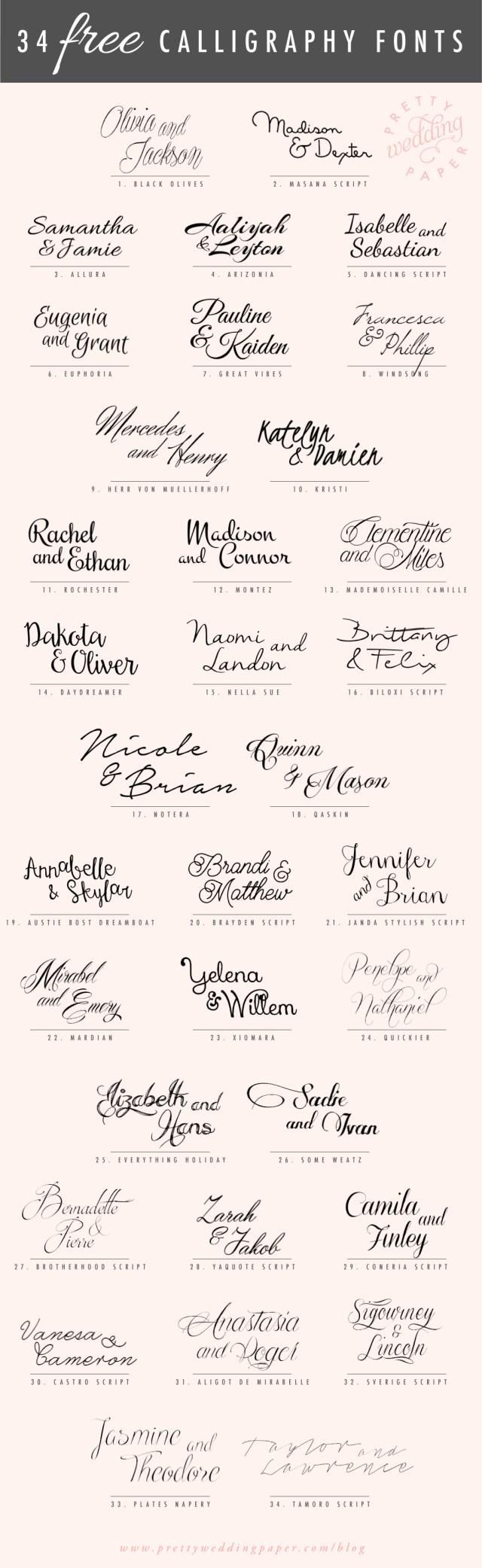 Wedding Invitation Fonts 34 Free Calligraphy Script Fonts For Wedding Invitations