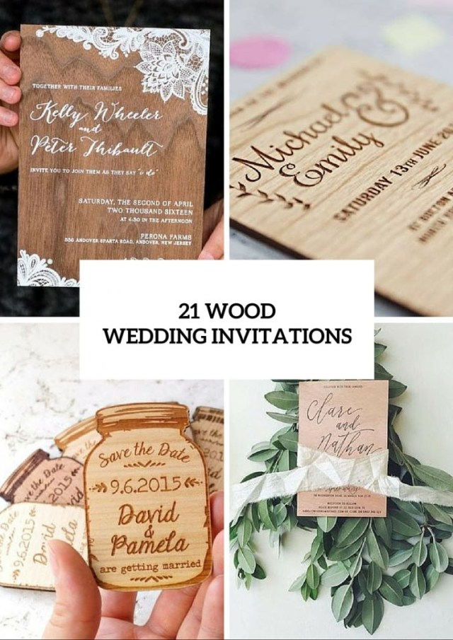 Wedding Invitation Ideas 21 Original Wood Wedding Invitation Ideas Weddingomania