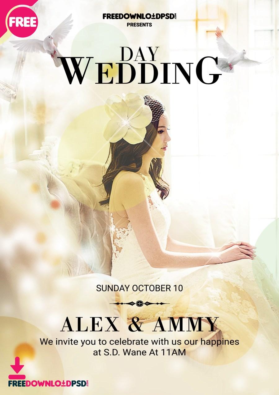Wedding Invitation Maker Wedding Flyer Template Psd Freedownloadpsd