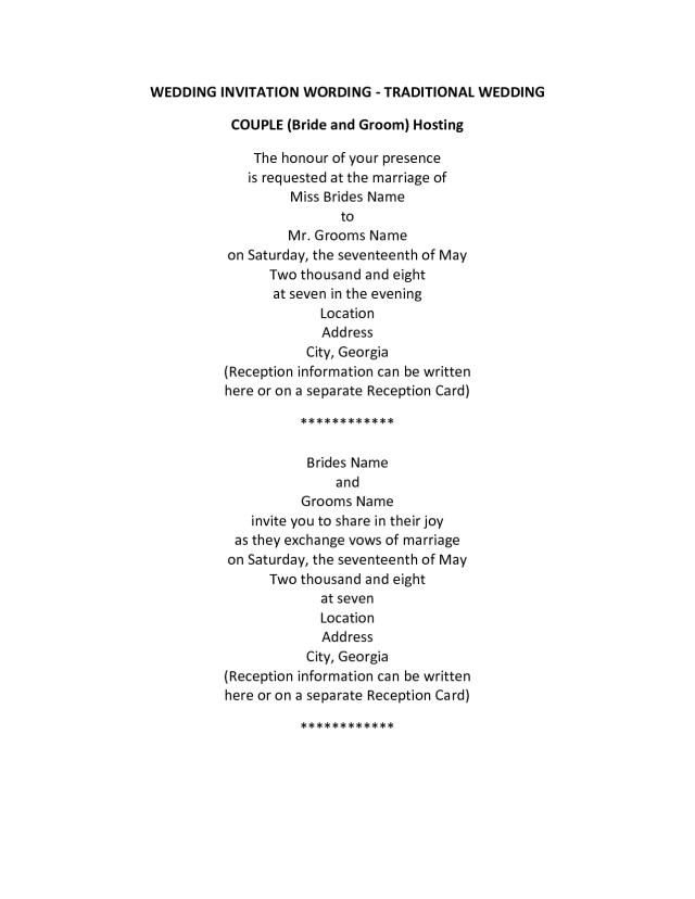 Wedding Invitation Message Older Couple Wedding Invitation Wording Wedding Invitation Wording