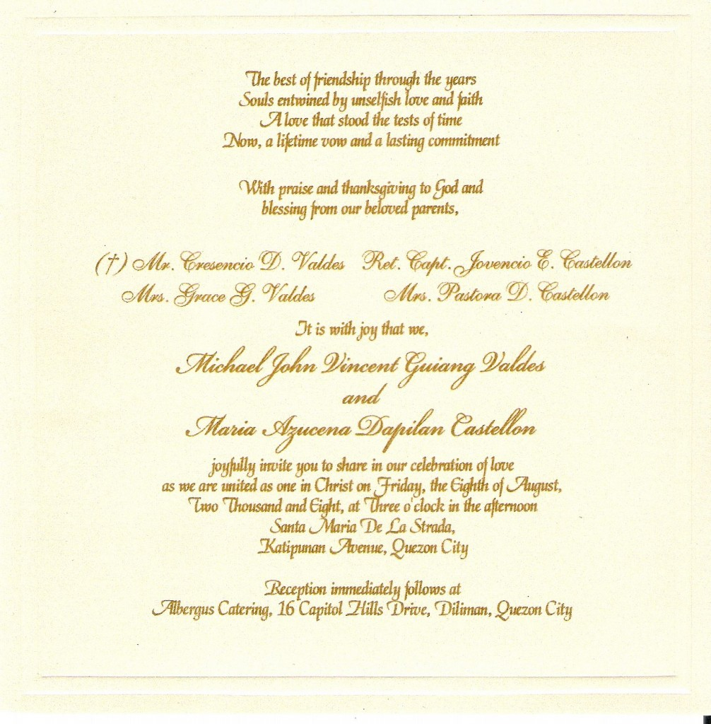 Wedding Invitation Message Wedding Invitation Message Marina Gallery Fine Art