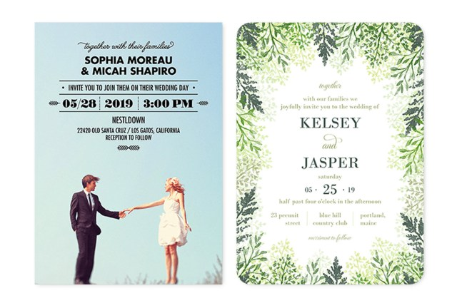 Wedding Invitation Pictures 35 Wedding Invitation Wording Examples 2018 Shutterfly