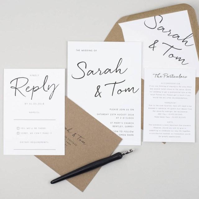 Wedding Invitation Pictures Minimalist Wedding Invitation Pear Paper Co Notonthehighstreet