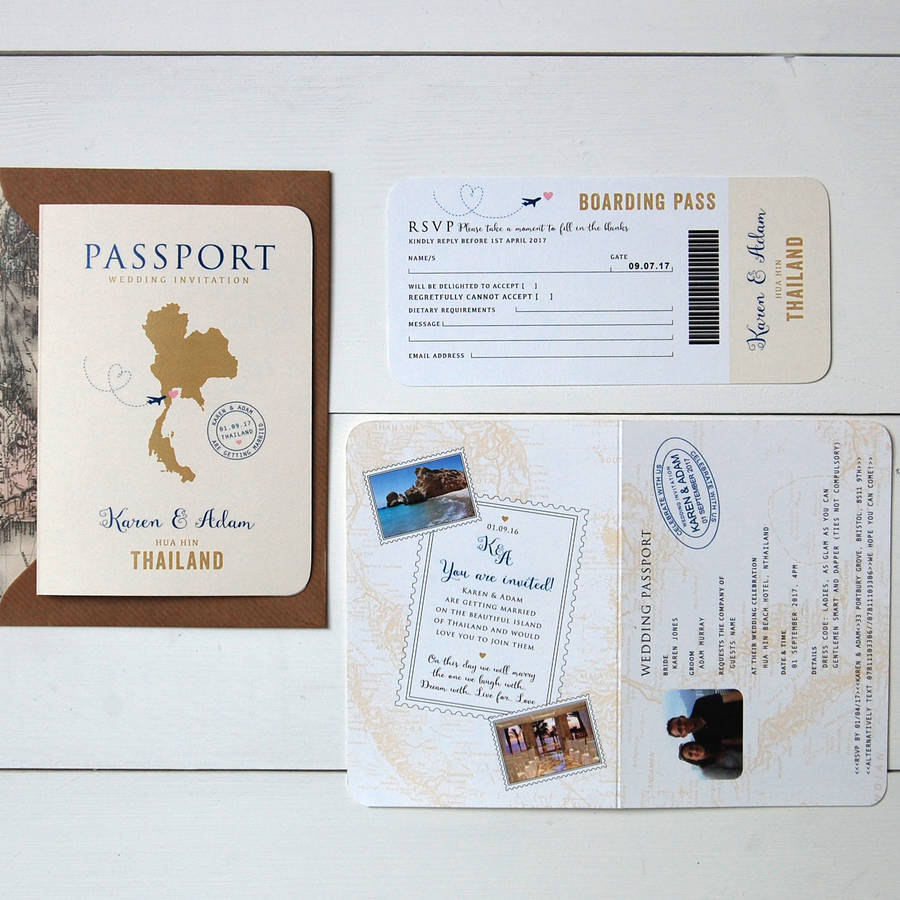 Wedding Invitation Rsvp All About Travel Passport Wedding Invitation And Rsvp Ditsy Chic
