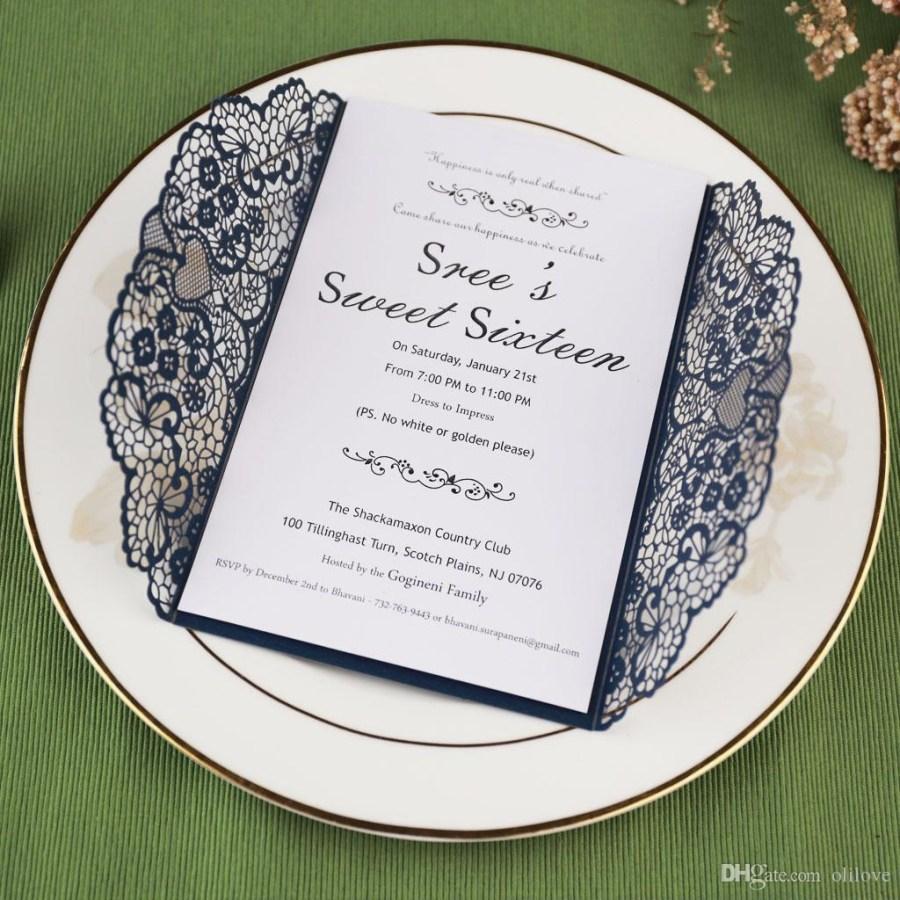 Wedding Invitation Suites 2019 Laser Cut Pocket Wedding Invitation Suites Custom Inner Sheet