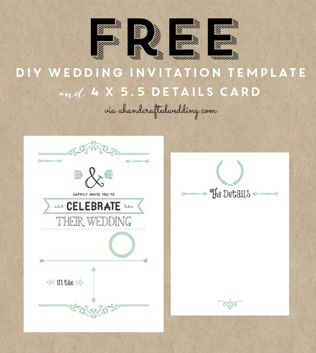 Wedding Invitation Template Free Free Printable Wedding Invitation Template All Things Wedding