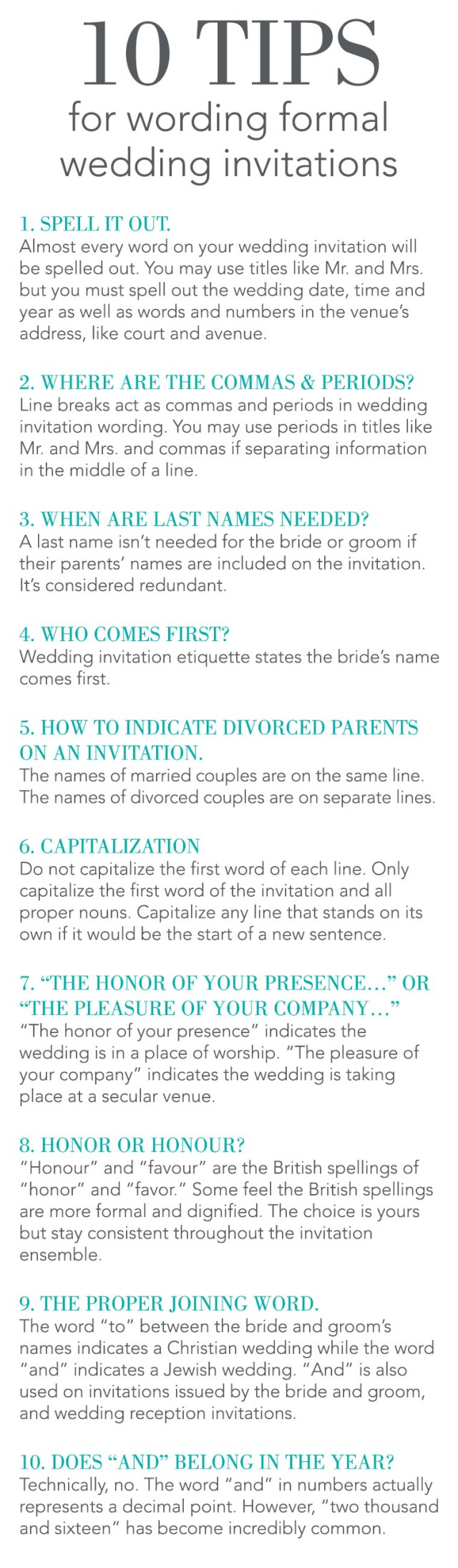 Wedding Invitation Wording Etiquette 10 Tips For Wording Formal Wedding Invitations Invitations Dawn