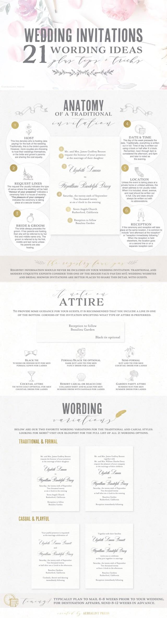 Wedding Invitation Wording Ideas 21 Best Wedding Invitation Wording Ideas Aerialist Press