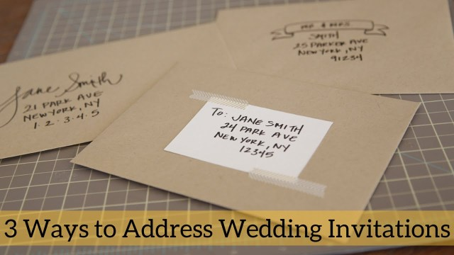 Wedding Invitations Addressing 3 Ways To Address Wedding Invitations Youtube