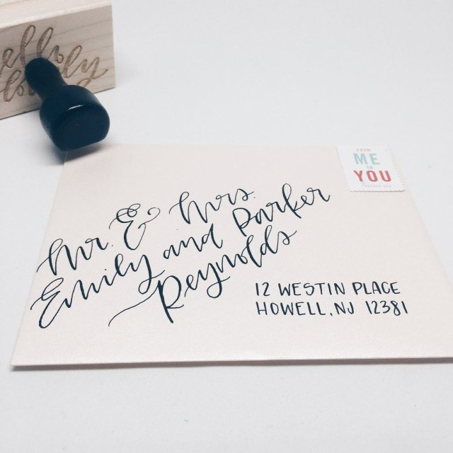 Wedding Invitations Addressing Envelopes With Hand Lettering Modern Calligraphy Or Brush