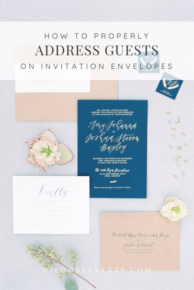Wedding Invitations Addressing Phoenix Arizona Wedding Planner Wild One Events Wedding