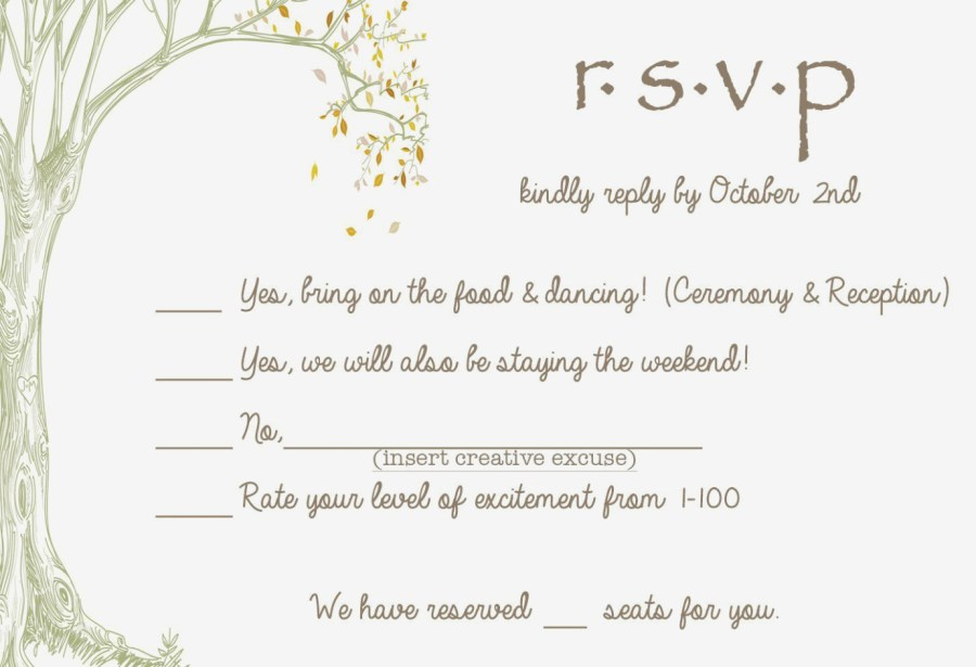 Wedding Invitations And Response Cards Elearningninja Wedding Invitation Response Card Wording Www