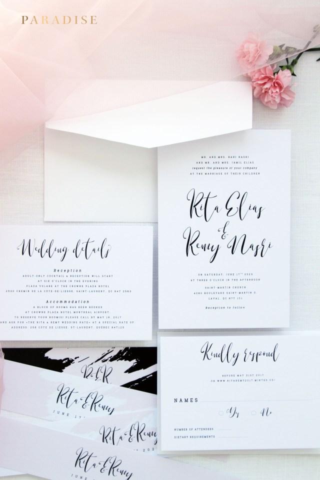 Wedding Invitations Kits Armelle Modern Calligraphy Wedding Invitation Sets Wedding