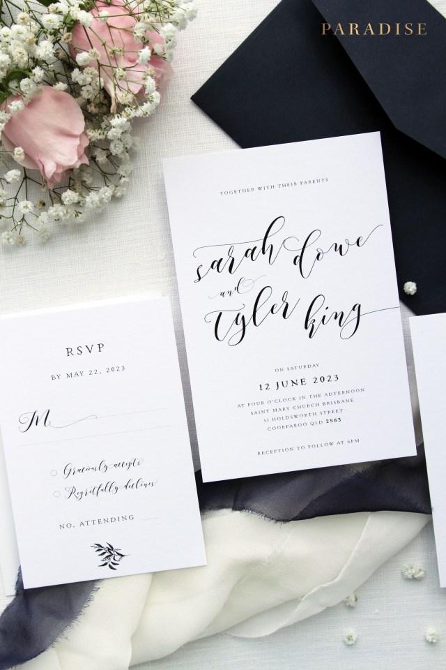 Wedding Invitations Kits Melody Golden Roses Wedding Invitation Sets Modern Invitation Kits