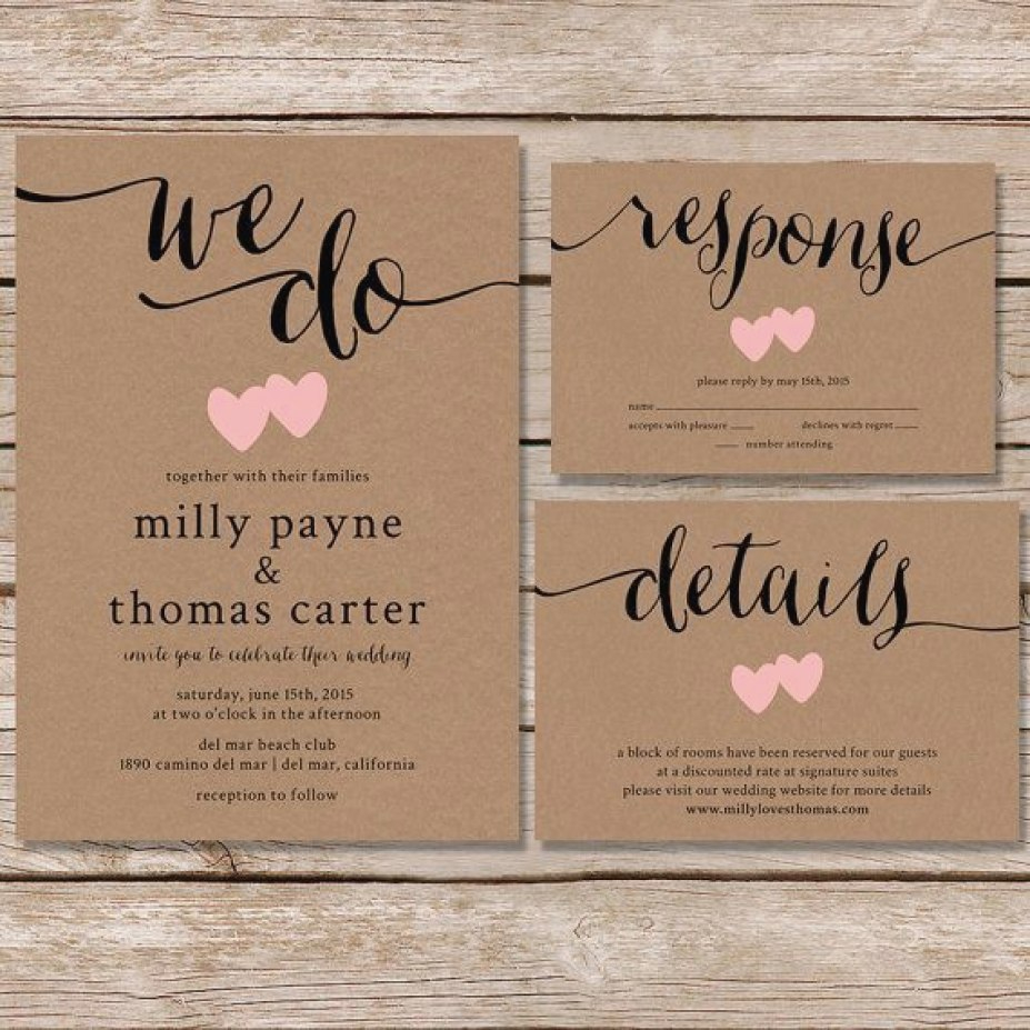 Wedding Invitations On Kraft Paper We Do Wedding Invitations Fresh Rustic Wedding Invitation Kraft