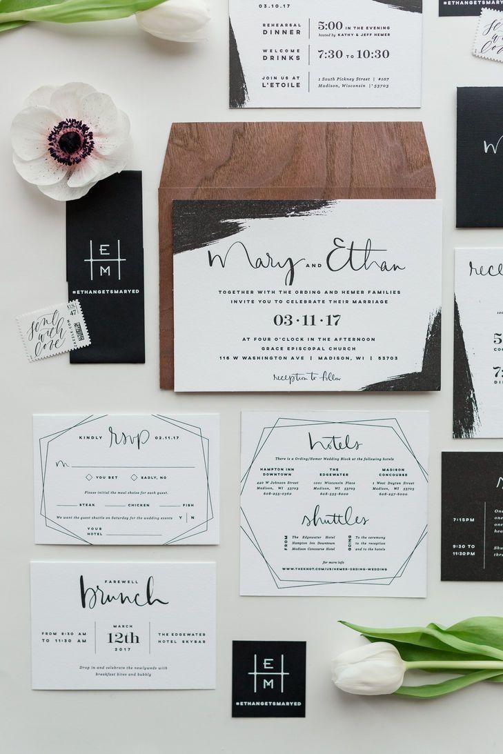 Wedding Invitations Sets Beautiful Modern Wedding Invitation Set Wedding Invitation