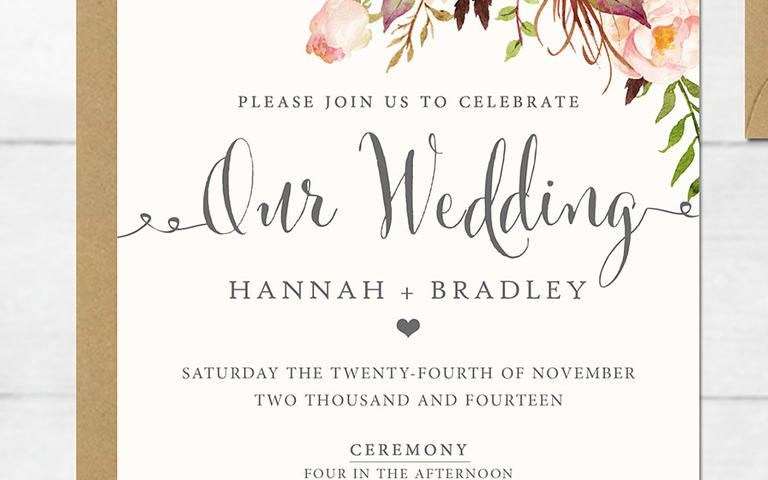 Wedding Invitations Template 16 Printable Wedding Invitation Templates You Can Diy Future