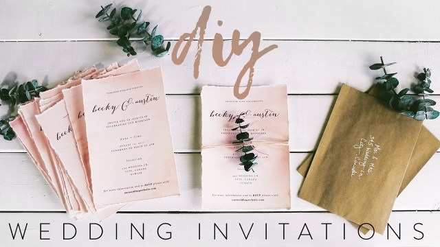 Wedding Invitations With Photo Diy My Wedding Invitations With Me Youtube
