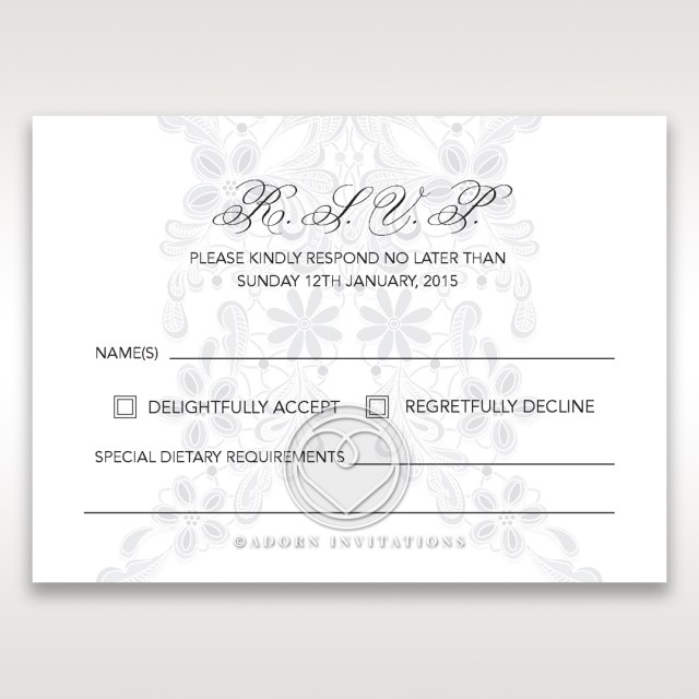 Wedding Invitations With Rsvp Floral Patterned Wedding Stationery Rsvp With Elegance
