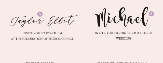 Wedding Invite Fonts Wedding Invitation Font Pairing Guide With Free Killer Fonts To