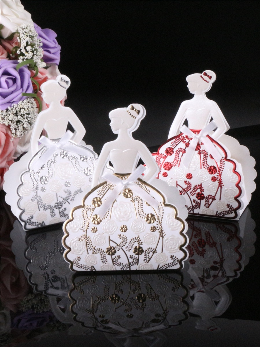 Wedding Party Decorations Buy 25pcs Candy Box Elegant Bride Shape Wedding Party Decorations