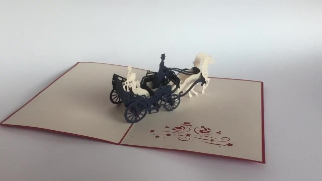 Wedding Pop Up Invitations City Carriage Pop Up Wedding Invitations Card Finnmira Coub