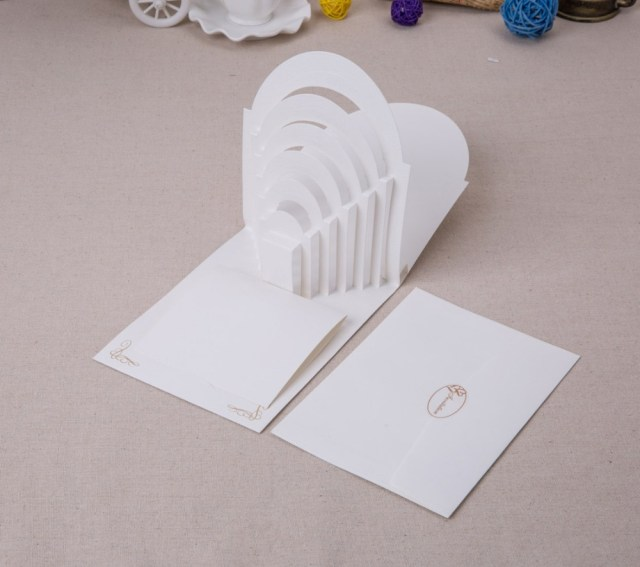 Wedding Pop Up Invitations Laser Cut 3d Pop Up Wedding Invitations With Groom And Bride In
