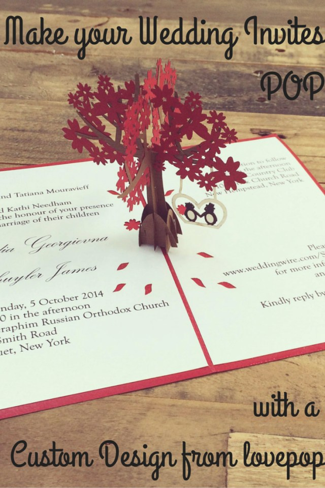 Wedding Pop Up Invitations Make Your Wedding Stationery Stand Out With A Custom Invite Or Save