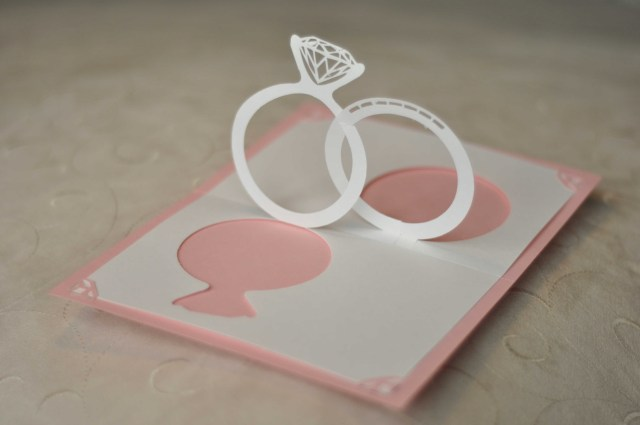 Wedding Pop Up Invitations Wedding Invitation Pop Up Card Linked Rings Creative Pop Up Cards