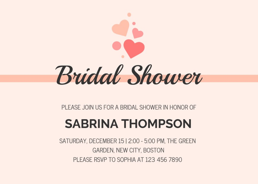 Wedding Shower Invites 19 Diy Bridal Shower And Wedding Invitation Templates Venngage