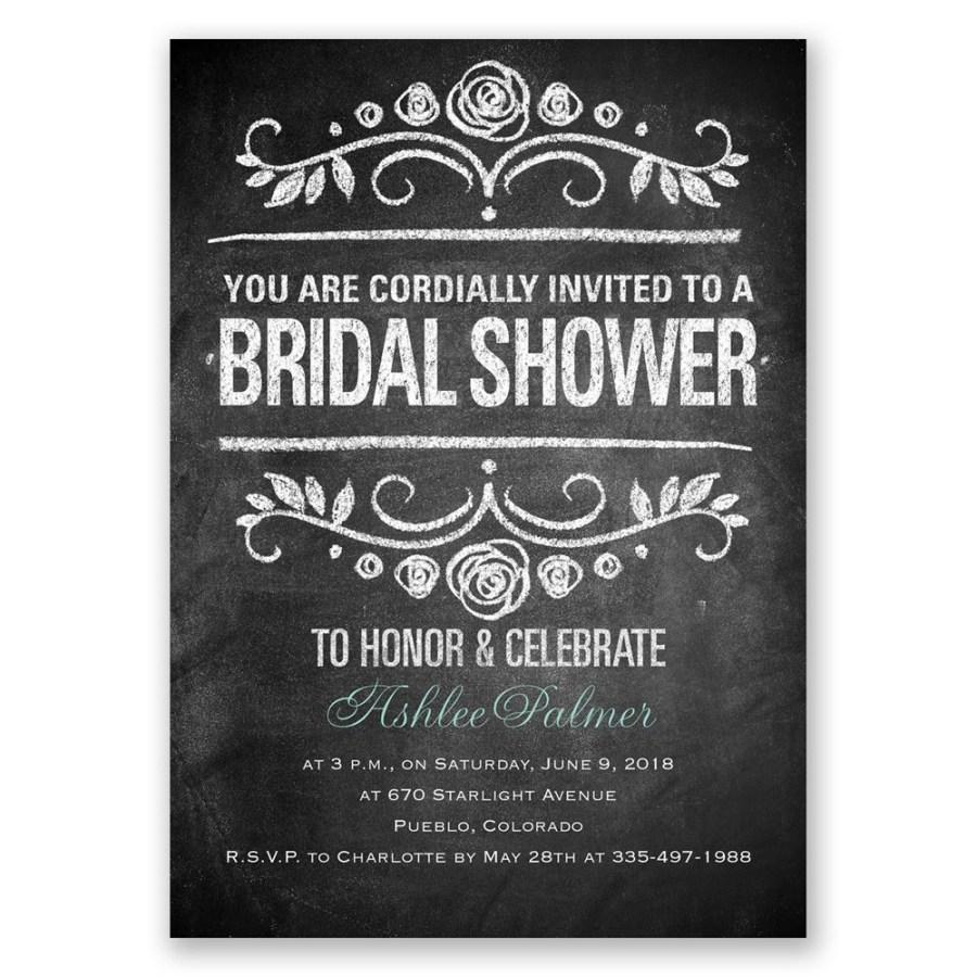Wedding Shower Invites Chalkboard Art Bridal Shower Invitation Invitations Dawn