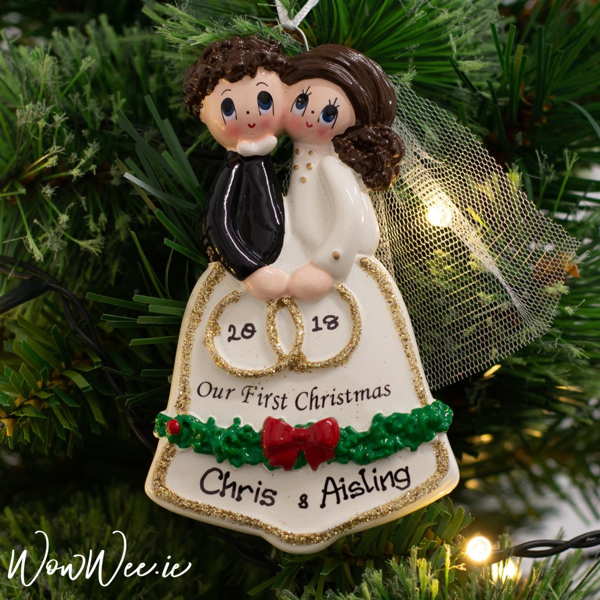 Wedding Tree Decorations Personalised Wedding Couple Christmas Ornament Personalised