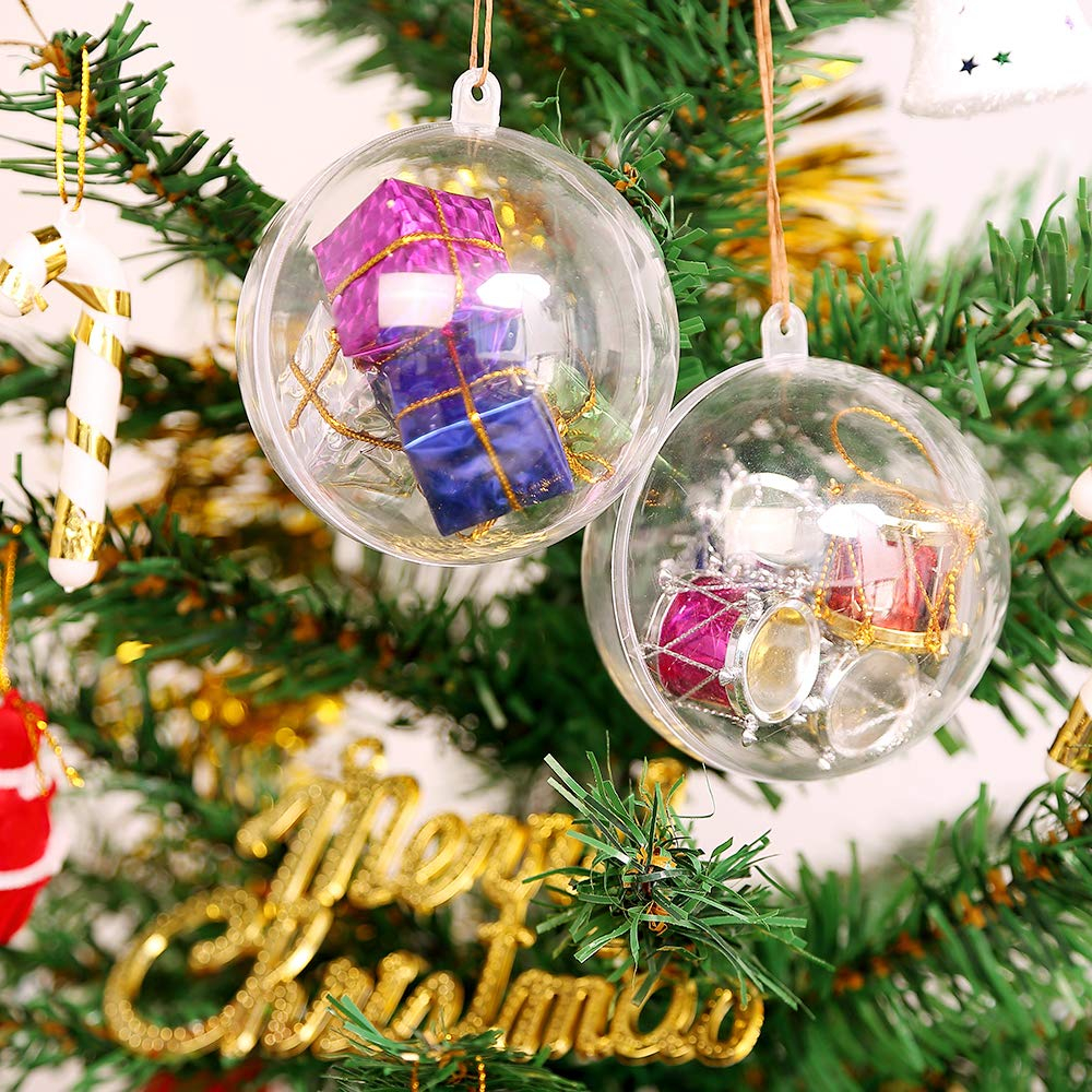 Wedding Tree Decorations Uten 20pcs Christmas Baubles Christmas Tree Decorations Clear
