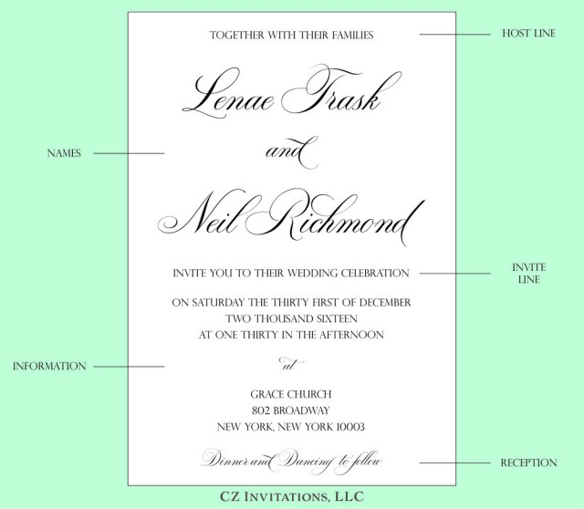 What To Say On Wedding Invitations How To Wedding Invitation Wording Cz Invitations