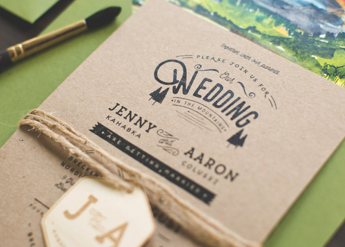 24+ Creative Image of Woodsy Wedding Invitations