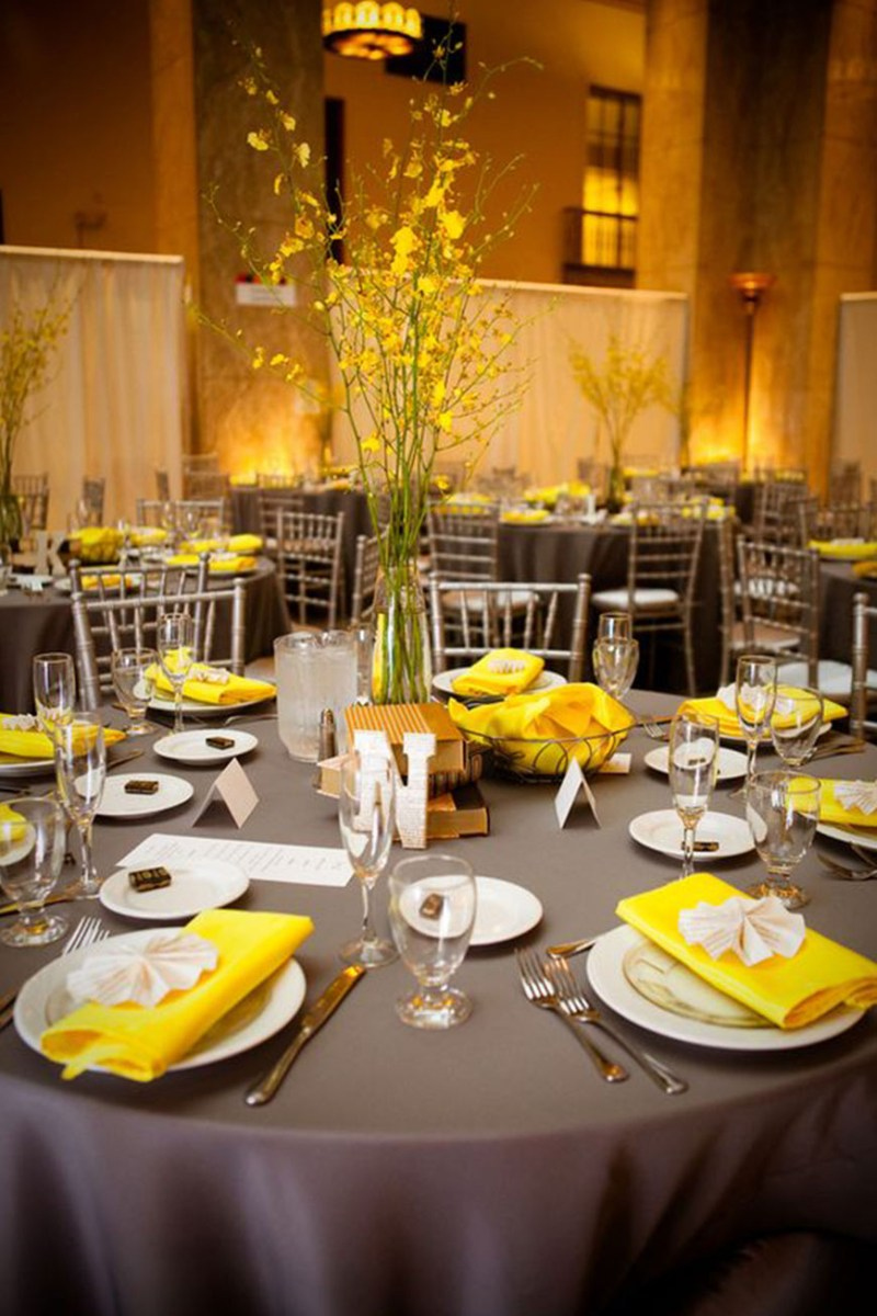 Yellow Wedding Decorations Grey Wedding Theme Wedding Ideas Colour Chwv