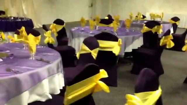 Yellow Wedding Decorations Purple And Canary Yellow Wedding Reception At Diamond Event Center