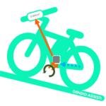 電動アシスト自転車 YAMAHA 消費カロリー算出法! 液晶マルチファンクションメーター