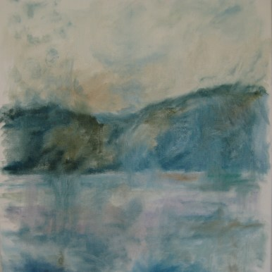 Morgendis Olie på lærred 50x55 cm 2016