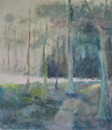 Skovens poesi Olie på lærred 70x80 cm 2017 Pris 4500 kr.