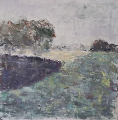 Høsttid Olie på lærred 50x50 cm